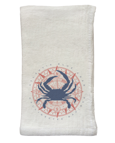 Blue Crab & Compass Flour Sack Napkins