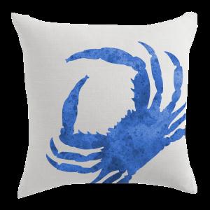 Blue Crab Designer Pillow