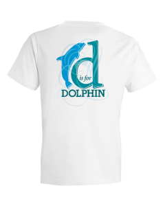 Children's D Is For Dolphin Short Sleeve Tee Shirt