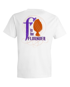 Children's F Is For Flounder Short Sleeve Tee Shirt