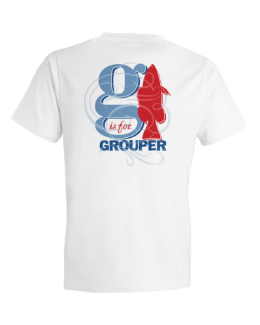 Children's G Is For Grouper Short Sleeve Tee Shirt