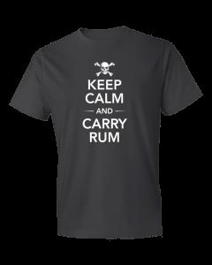 Men's Keep Calm And Carry Rum Short Sleeve Tee Shirt