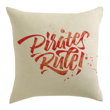 Pirate's Rule! Designer Pillow