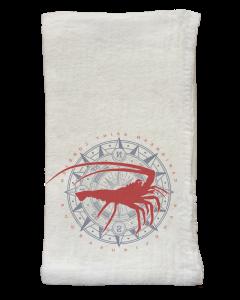 Spiny Lobster & Compass Flour Sack Napkins