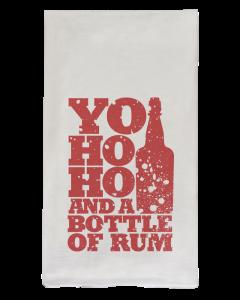 Yo Ho Ho And A Bottle Of Rum Flour Sack Dish Towel