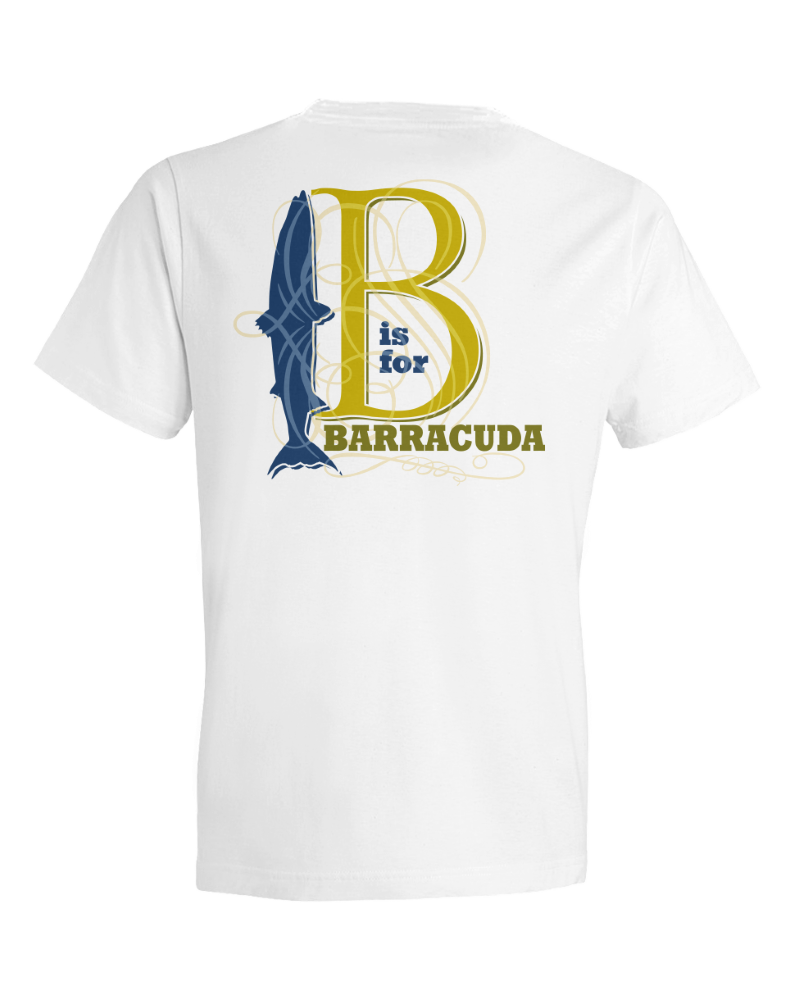 Children's B Is For Barracuda Short Sleeve Tee Shirt