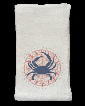 Blue Crab & Compass Flour Sack Napkins