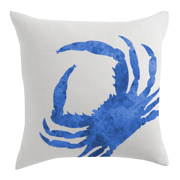 Blue Crab Designer Pillow