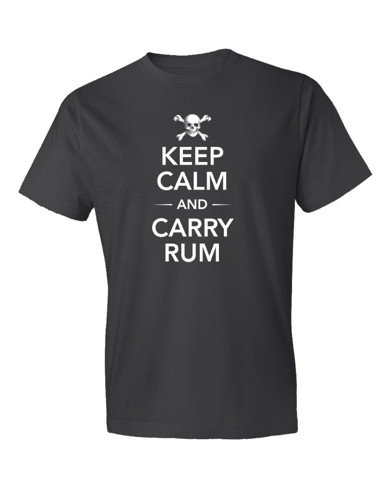 Men's Keep Calm And Carry Rum Short Sleeve Tee Shirt