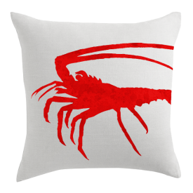 Spiny Lobster Designer Pillow