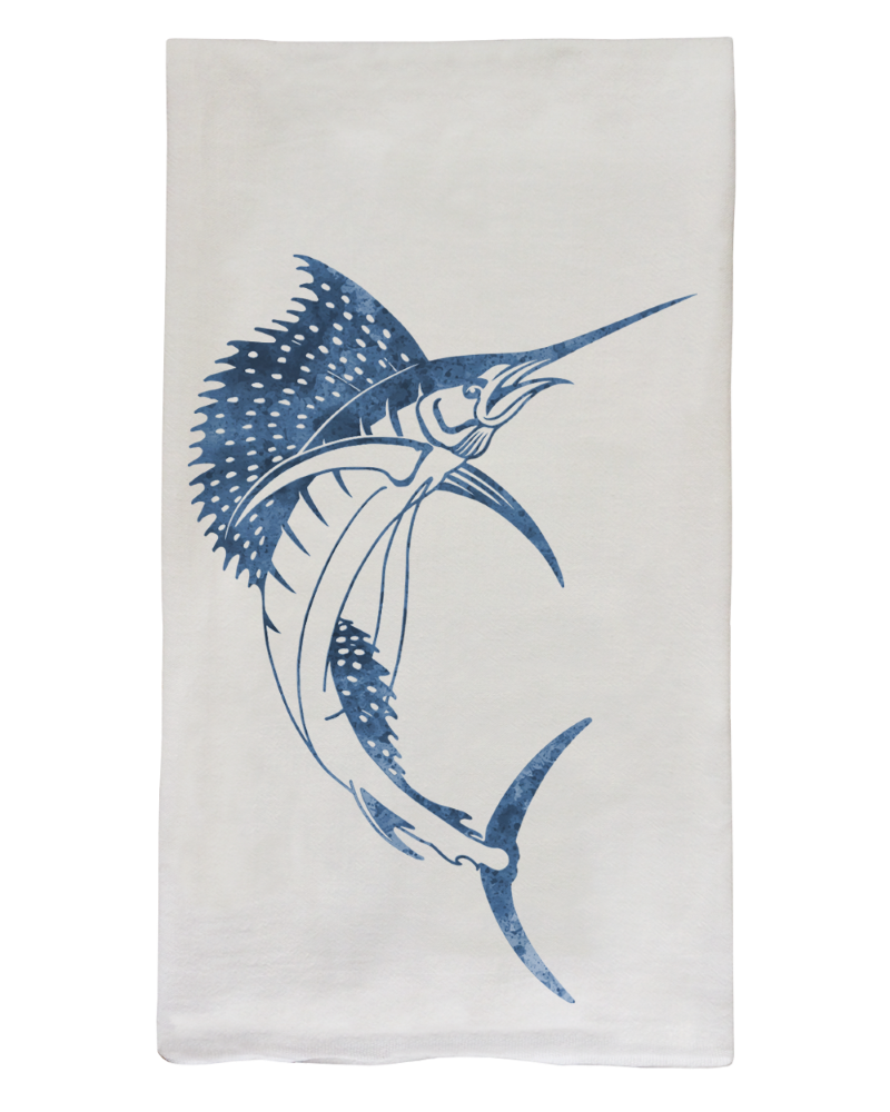Sailfish Flour Sack Dish Towel